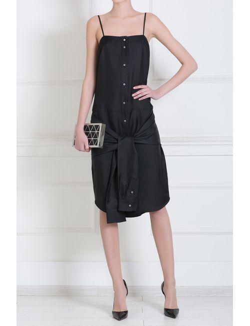 T By Alexander Wang | Женское Чёрное Шелковое Платье