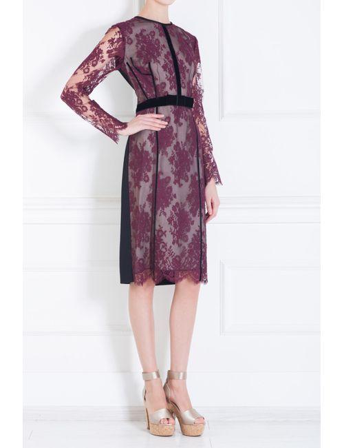 Erdem | Женское Красное Платье С Цветочной Вышивкой