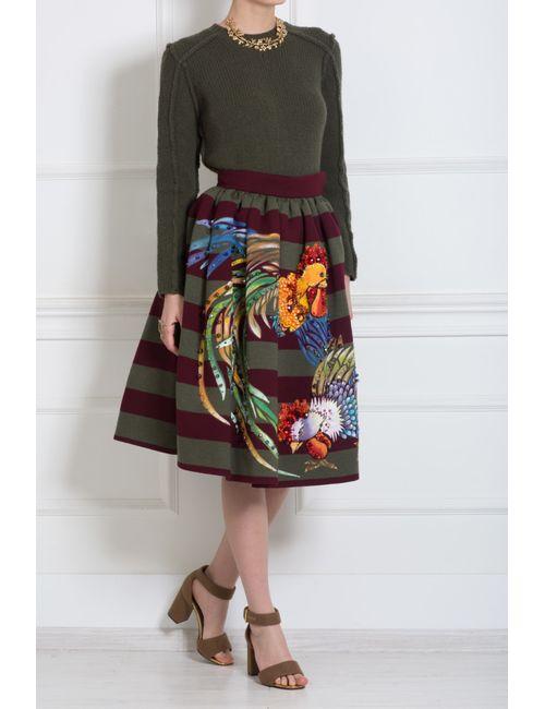 Stella Jean   Женская Многоцветная Шерстяная Юбка