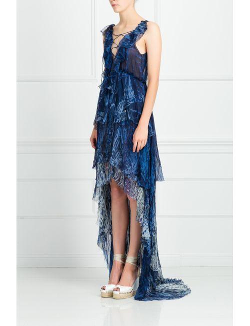 Emilio Pucci | Женское Синее Шелковое Платье