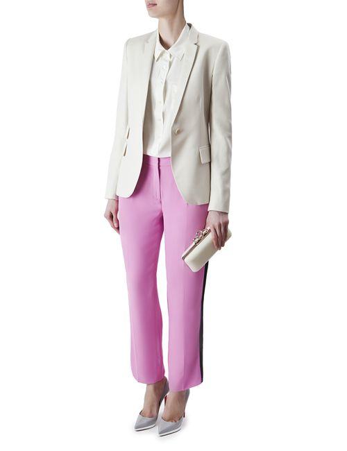Diane Von Furstenberg | Женские Розовые Брюки Из Искусственного Шелка Naples Ankle Soft
