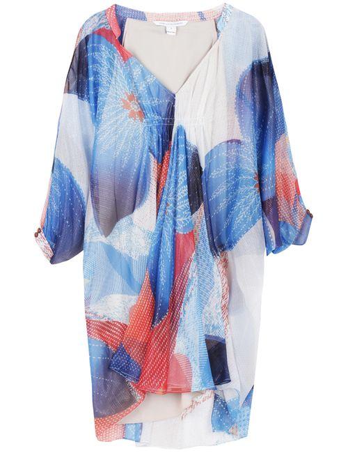 Diane Von Furstenberg | Женское Голубое Шелковое Платье Fleurette