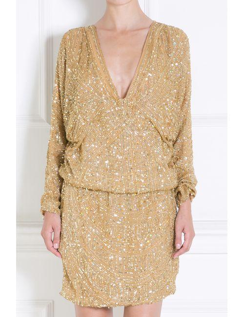 Elie Saab | Женское Золотое Шелковое Платье