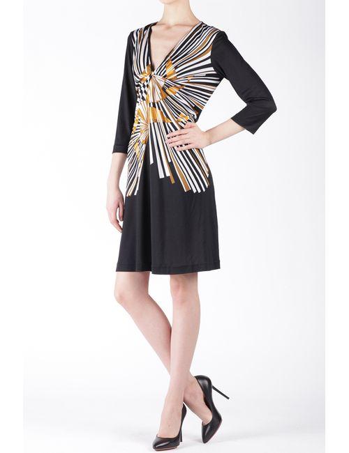 Diane Von Furstenberg | Женское Чёрное Шелковое Платье Justin