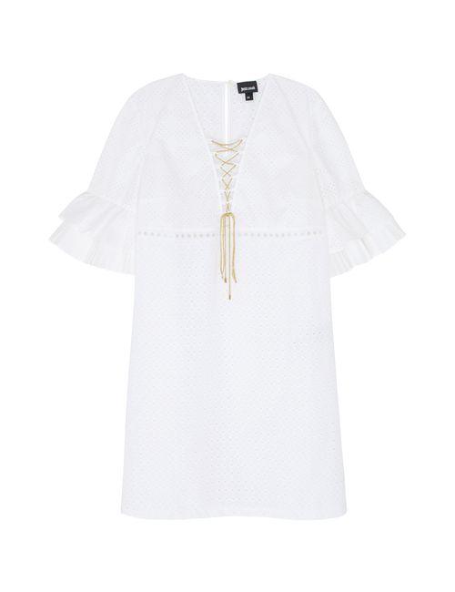 Just Cavalli | Женское Белое Хлопковое Платье