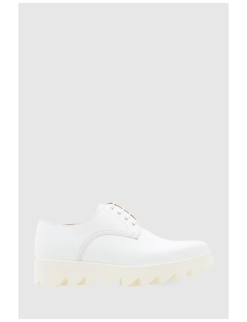Swear | Женские Белые Кожаные Ботинки Nina