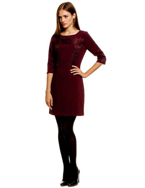 TOM TAILOR | Женское Интенсивный Сливовое Платье 501329200755482