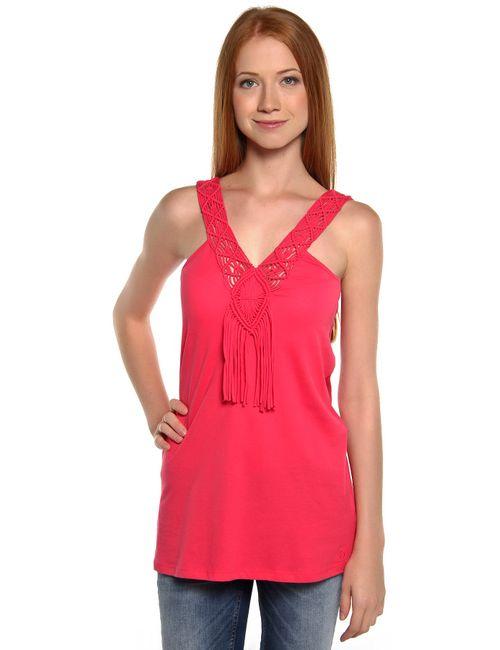 Denim | Женская Розовая Футболка 102592600715067
