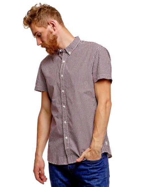 Denim | Мужская Фиолетовая Рубашка