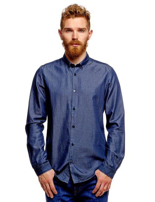 TOM TAILOR | Мужская Синяя Рубашка 203029300156800