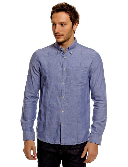 TOM TAILOR | Мужская Синяя Рубашка 203028500106727