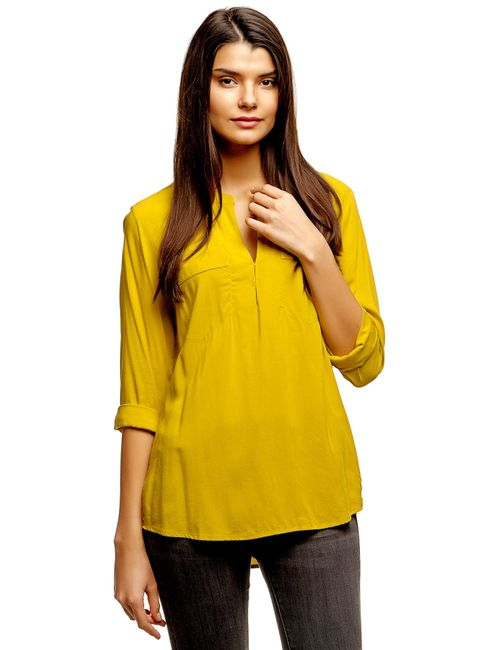 TOM TAILOR | Женская Жёлтая Блузка