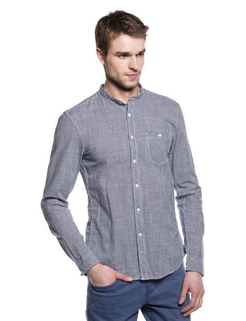 Denim | Мужская Синяя Рубашка 203143800126576