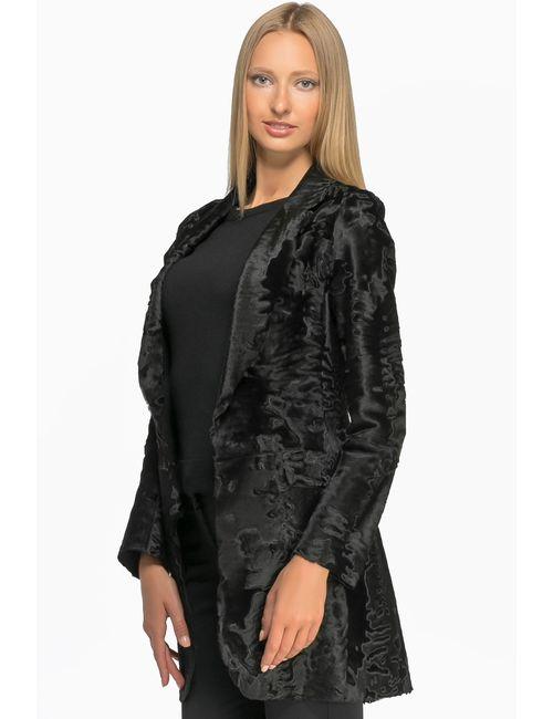 Izeta | Женская Черный Шуба Из Меха Свакара Л-3353А
