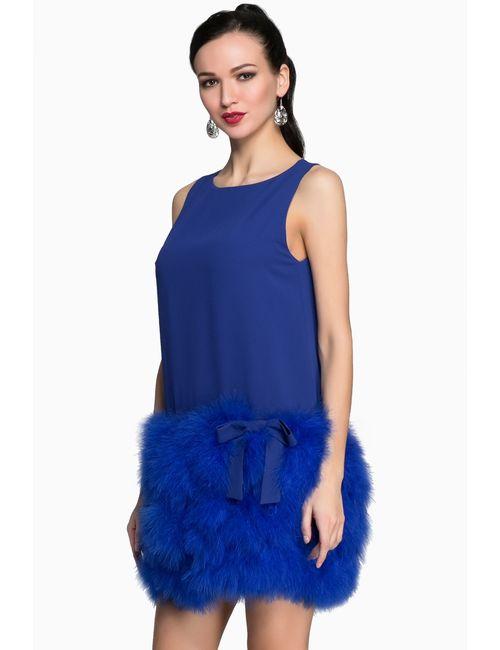 Anna Stevar | Женское Синее Платье Ks112