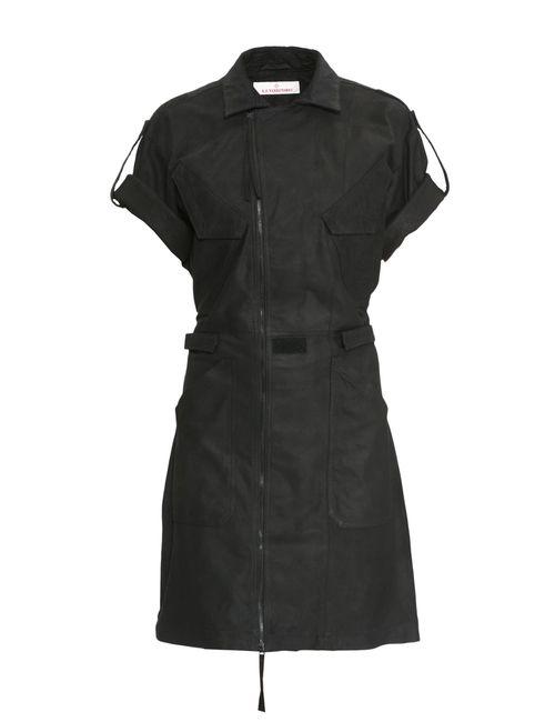 A.F.Vandevorst | Женское Черный Кожаное Платье Sf-151 Drift-L-002