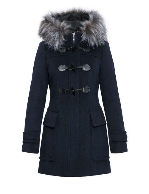 Icoat By Pompa | Женское Синее Пальто С Мехом 1015590i10264