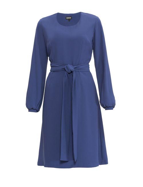 Sarafan | Женское Синее Платье С Поясом 3143076