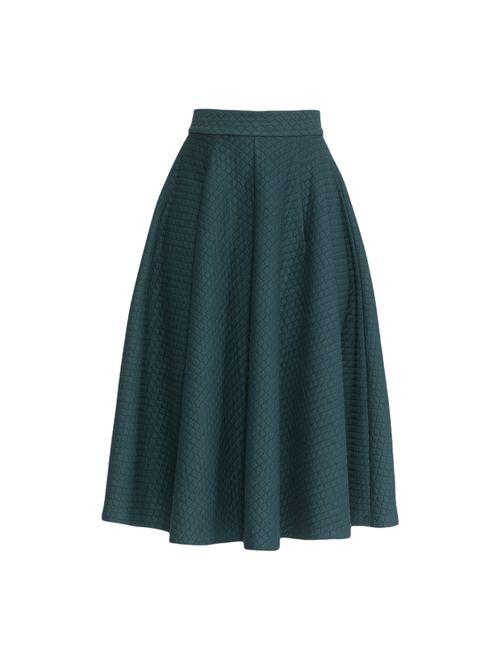 Demurya Collection | Женская Зелёная Юбка Dem-Ub-Sv01