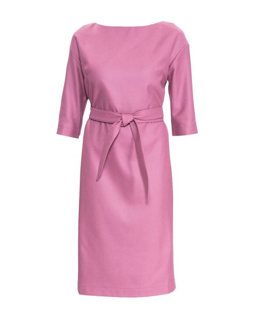 Pallari | Женское Розовое Платье С Поясом 4187-8dr