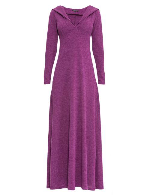 Alina Assi | Женское Фиолетовое Трикотажное Платье Dr-246