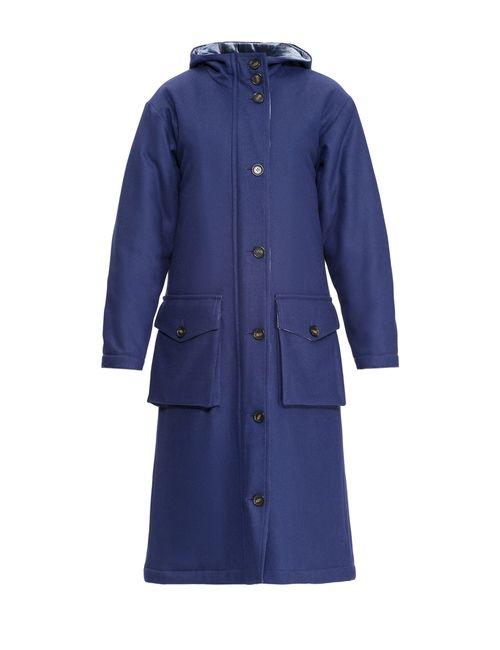 Cyrille Gassiline | Женское Синее Пальто 75.65.0640