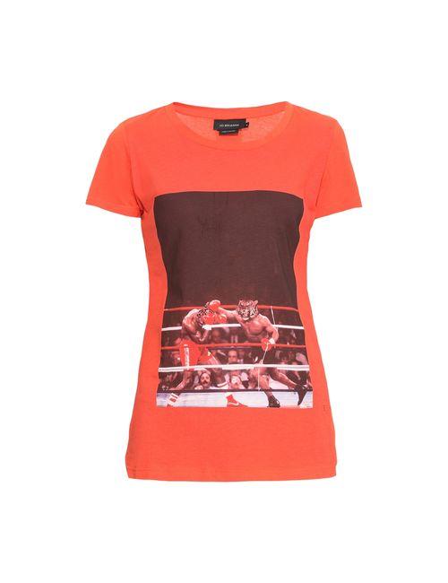 Les Benjamins | Женская Оранжевая Футболка 161163
