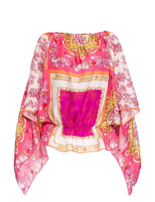 Blumarine | Женская Розовая Блуза Из Шелка 162191
