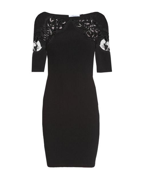 Blumarine | Женское Чёрное Трикотажное Платье 162228