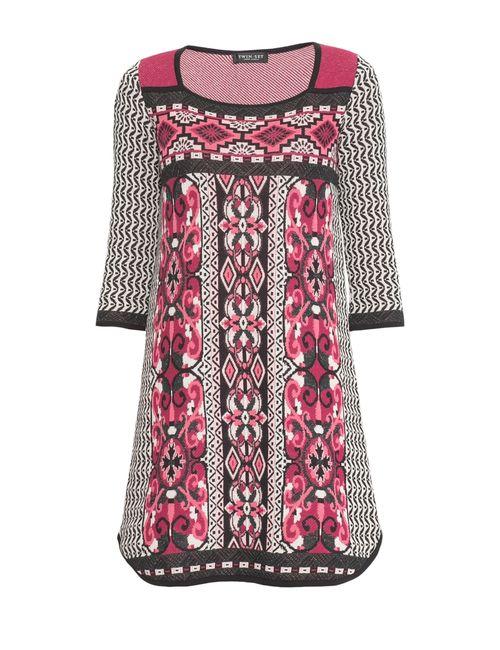 Twin-set | Женское Многоцветное Трикотажное Платье At-162734