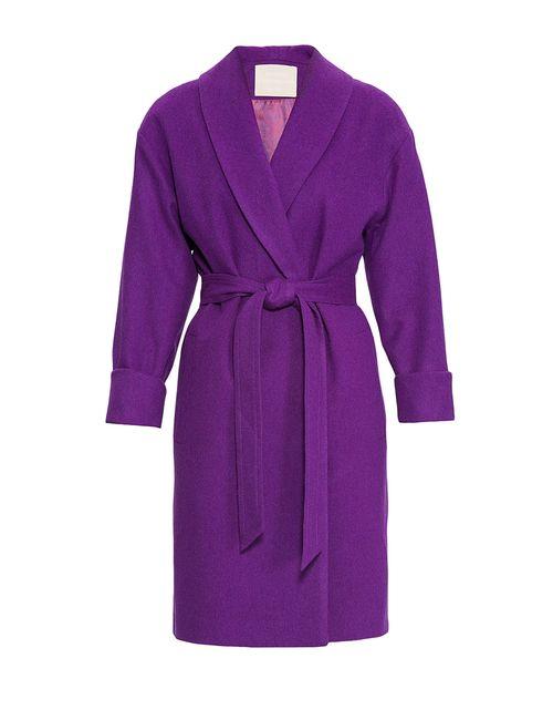 Nataniel Dobryanskaya | Женское Фиолетовое Пальто Из Шерсти С Поясом 169850