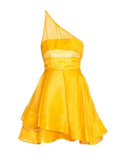 ALEX PERRY | Женское Жёлтое Платье Из Шелка 173821