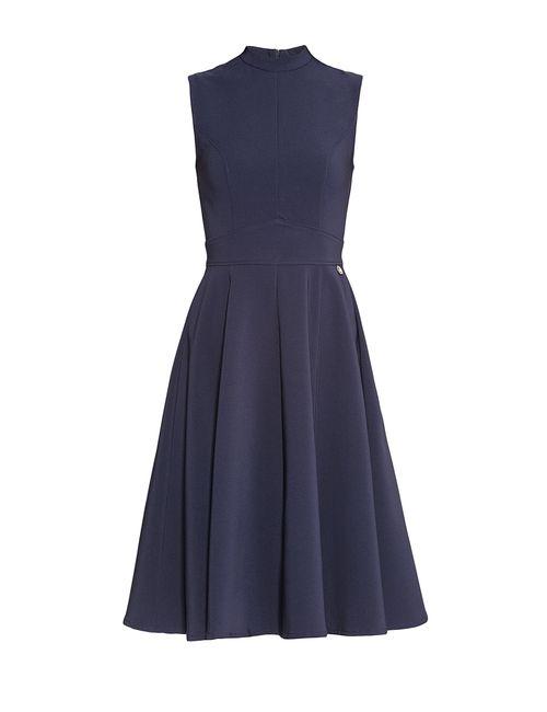 MET | Женское Синее Платье Из Искусственного Шелка 174058