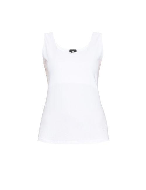 Bogner Man | Женский Белый Трикотажный Топ Из Хлопка 170553