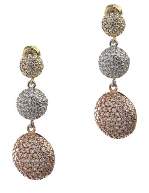 Royal Crown   Женские Золотые Серьги