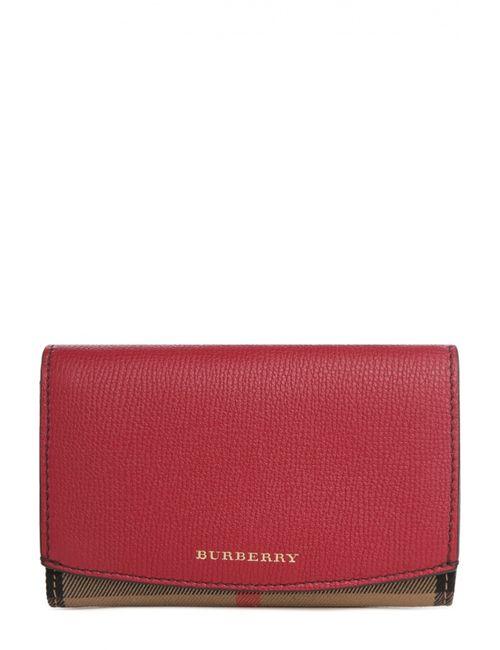 Burberry | Женское Красное Портмоне