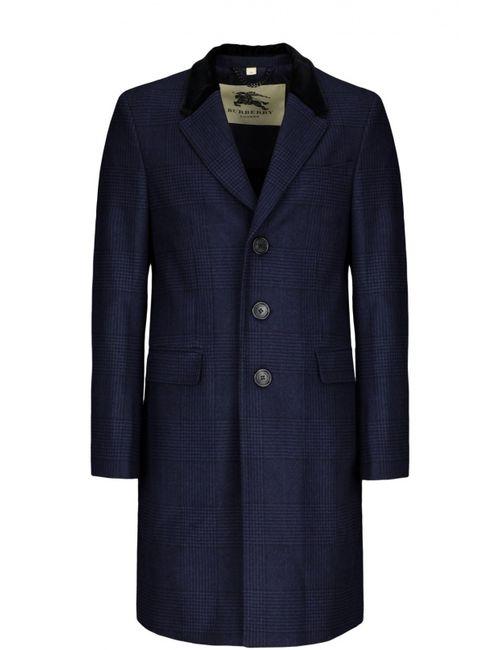 Burberry | Мужское Синее Пальто