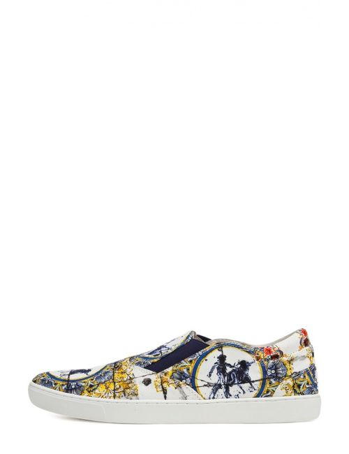 Dolce & Gabbana | Мужские Многоцветные Кеды New Q