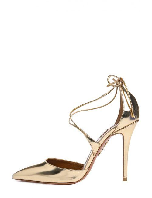 Aquazzura | Женские Золотые Туфли