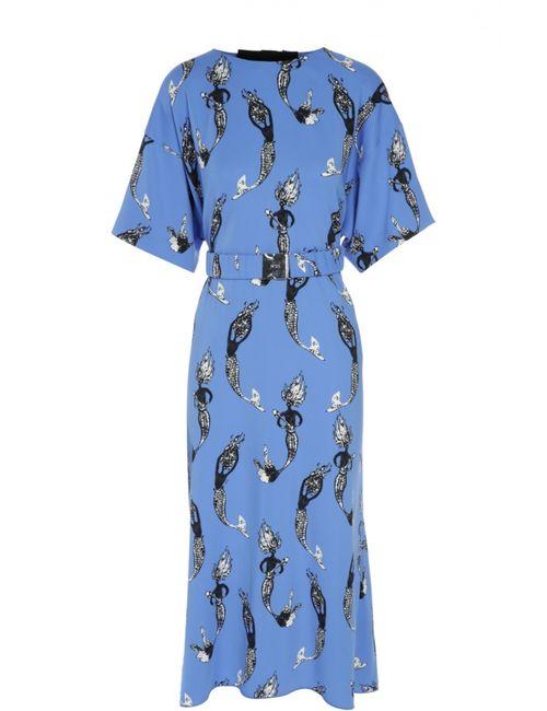 No21 | Женское Голубое Платье С Поясом No. 21