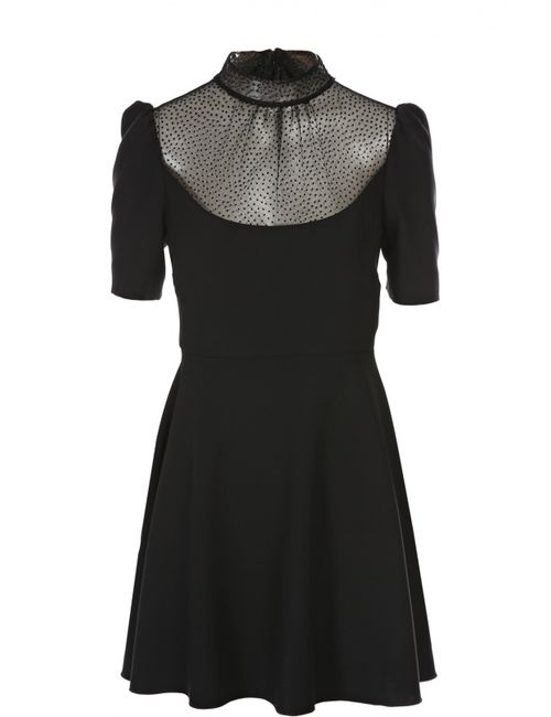Red Valentino | Женское Чёрное Платье R.E.D. Valentino