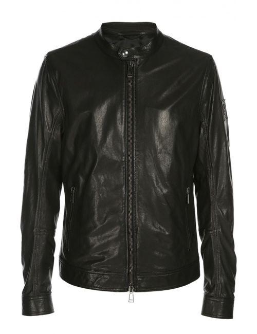 Belstaff | Мужская Чёрная Куртка Кожаная