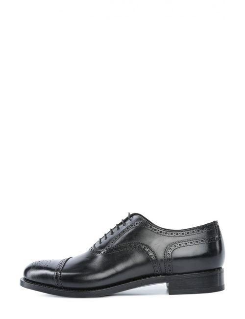 Santoni | Мужские Чёрные Туфли