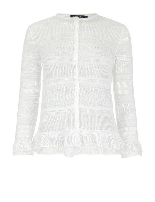 Polo Ralph Lauren | Женский Белый Кардиган Вязаный