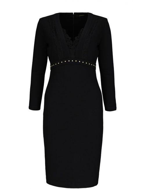 Roberto Cavalli | Женское Чёрное Вязаное Платье