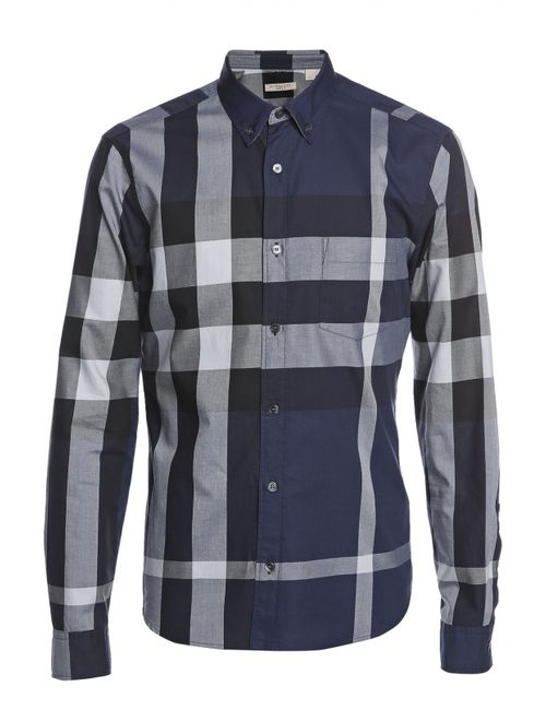 Burberry Brit | Мужская Синяя Рубашка