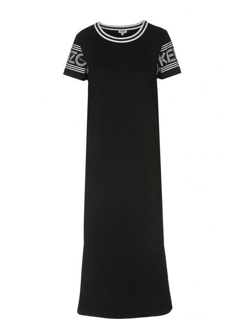 Kenzo | Женское Чёрное Платье Джерси