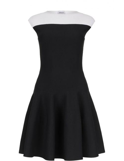 Armani Collezioni | Женское Белое Платье Вязаное
