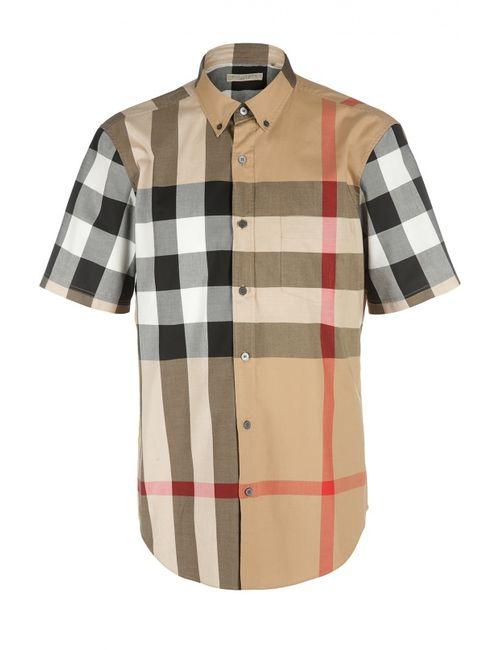 Burberry Brit | Мужская Бежевая Рубашка