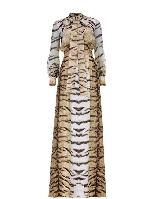 Roberto Cavalli | Женское Бежевое Вечернее Платье